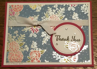 Thank You Card highlighting Stampin' Up! Sweet Soiree Specialty Designer Series Paper