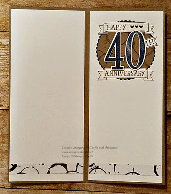 Interior of Anniversary Card using Stampin' Up! Number of Years Bundle