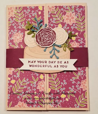 Shutter Card featuring Stampin' Up! Cake Soiree Bundle & Sweet Soiree Specialty Designer Series Paper
