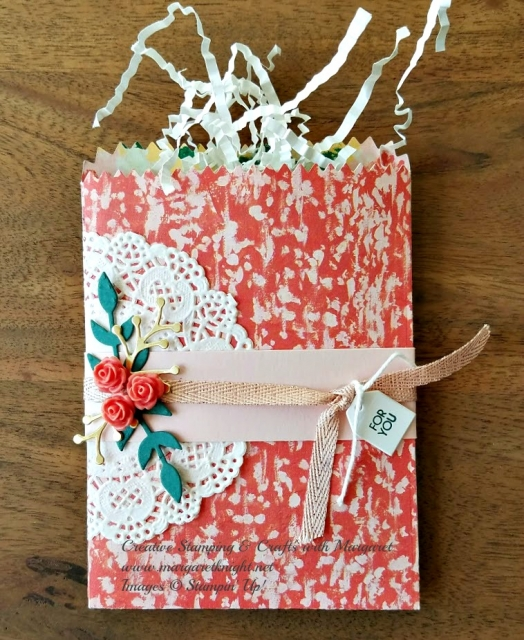 "Mini Treat Bag using Garden Impressions 6"" x 6"" Designer Series Paper from Stampin' Up!"