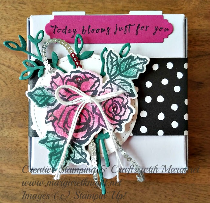 Stampin' Up! Petal Palette meets Mini Pizza Box