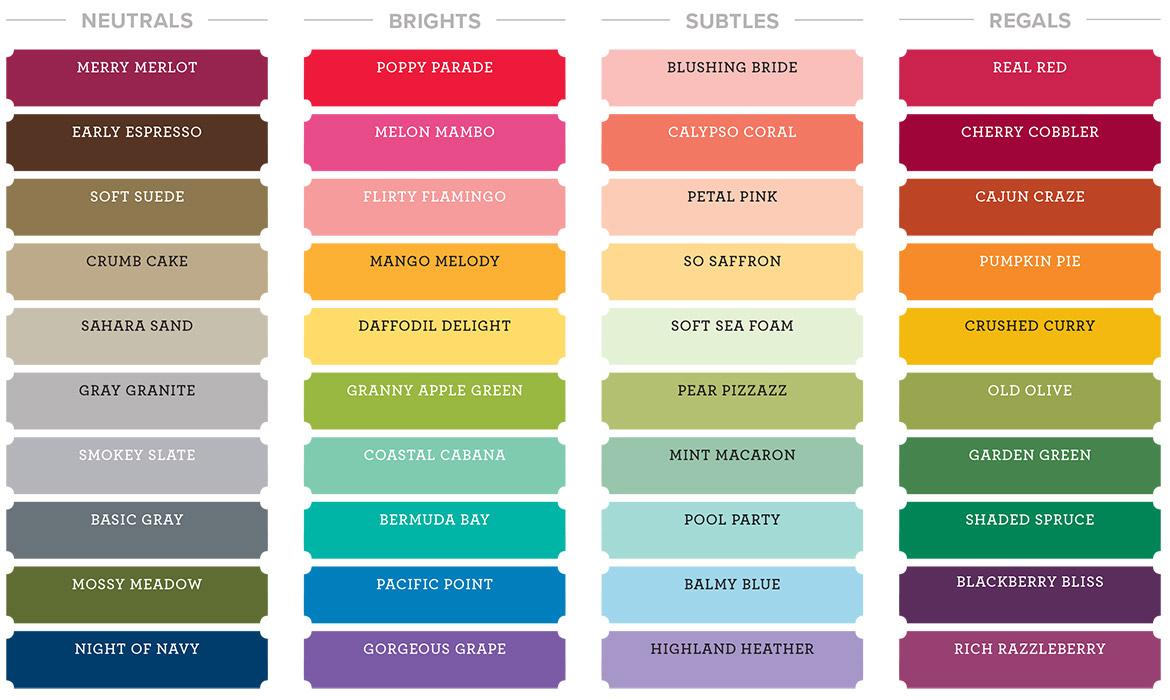 Stampin' Up! Color Collections