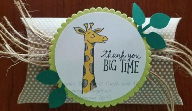 Stampin' Up! Animal Outing Kraft Pillow Treat Box