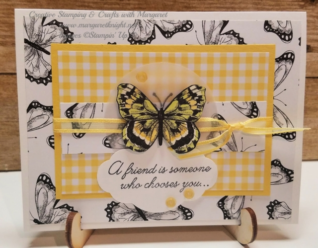 Card Featuring Botanical Butterfly Designer Series Paper