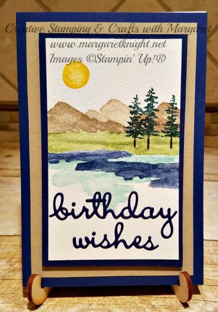 Waterfront Stamp Set Masculine Birthday Card