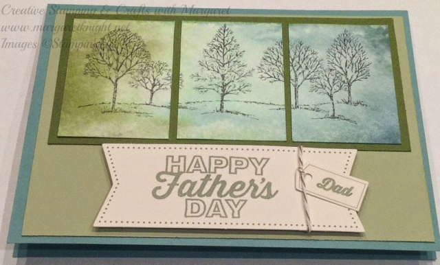 Lovely As A Tree Watercolor Father's Day Card