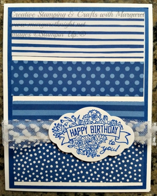 Blueberry Bushel Designer Series Paper Monochromatic Card