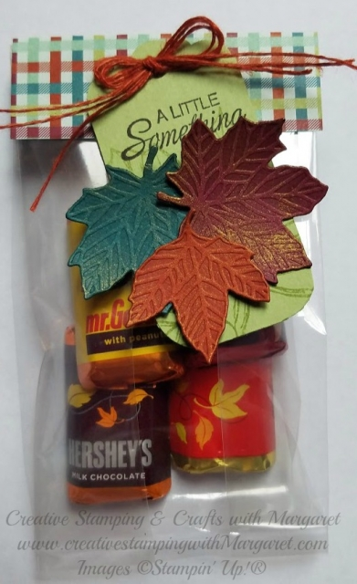 Treat Bag with Fall Leaves Tag