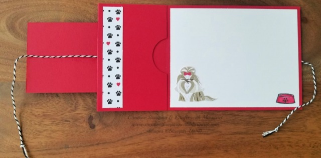 Playful Pets Gift Card Interior