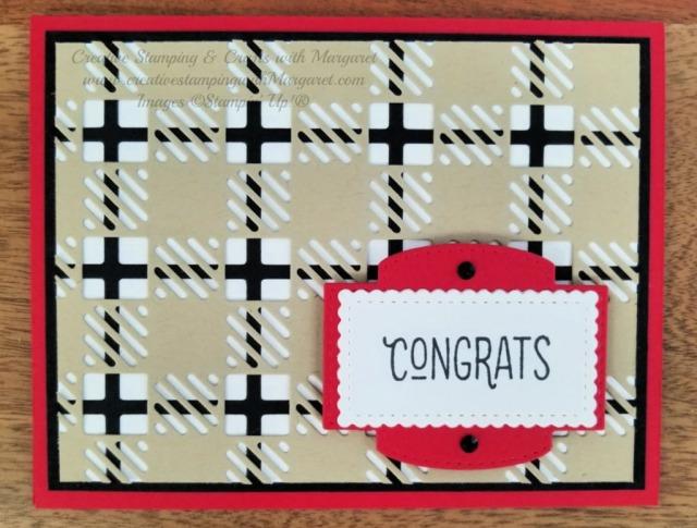 Congrats Plaid Card